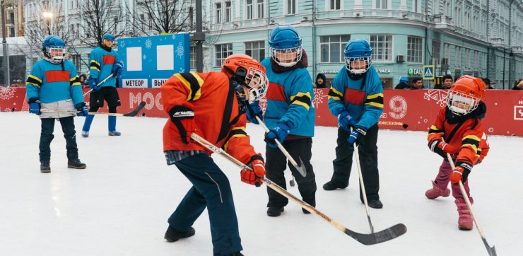 youth hockey league with 2 teams playing